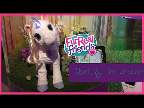 New! Furreal Friends Starlily The Magical Unicorn Preview ~ Toy