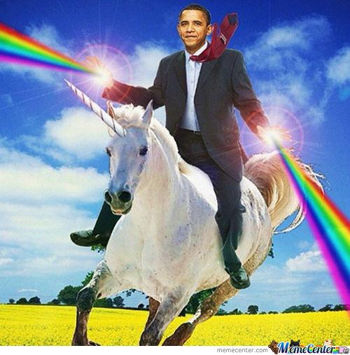 Obama Unicorn Rider  The Desolation Of Romney By Whyusoshang