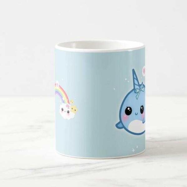 Online Shop Cute Kawaii Narwhal Unicorn Coffee Mug Sea Unicorn