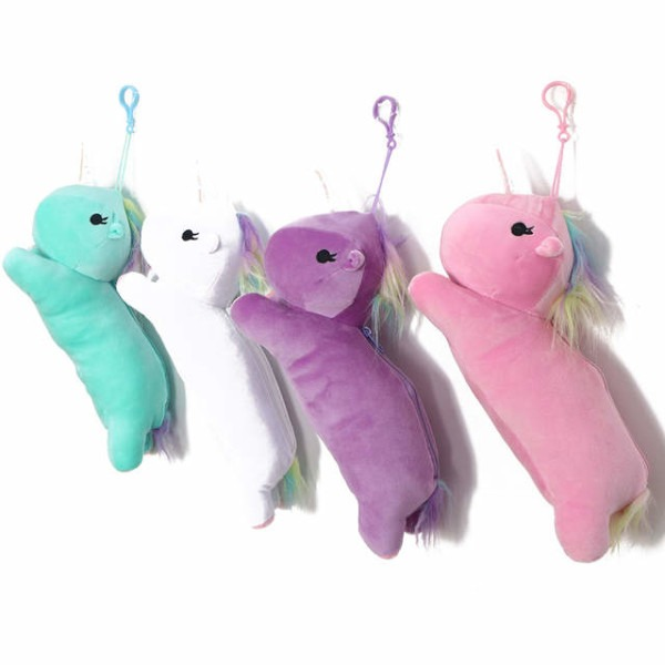 Online Shop Lovely 30cm Plush Unicorn Pencil Case School