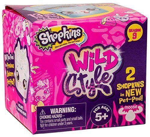 Original Shopkins Season 9 Wild Style 2pk 174 Unicorn Pet Pod