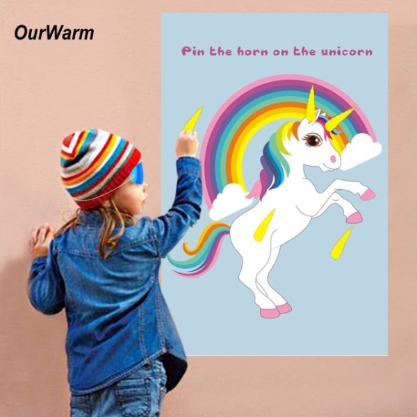 Ourwarm Pin The Horn On The Unicorn Fun Kids Birthday Party Favors