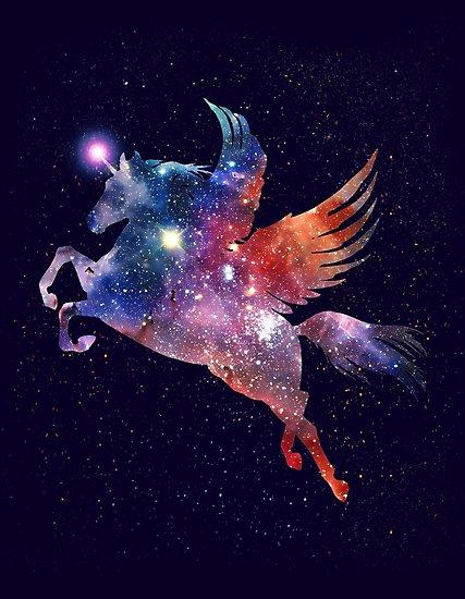 Pegasus Unicorn Galaxy  Photographic Print By Exosam