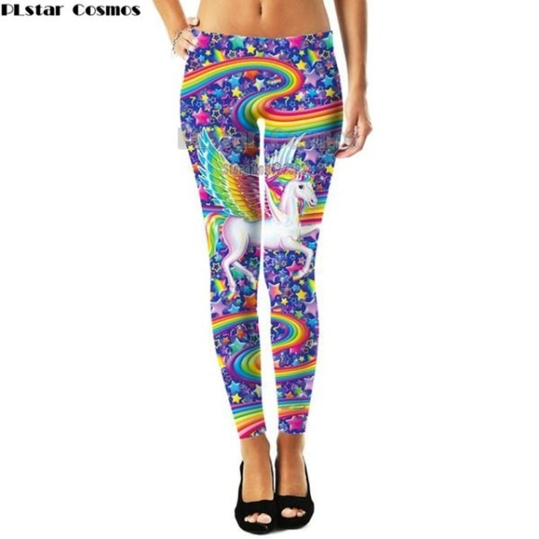 Plstar Cosmos Fashion Womens 3d Rainbow Unicorn Print Leggings