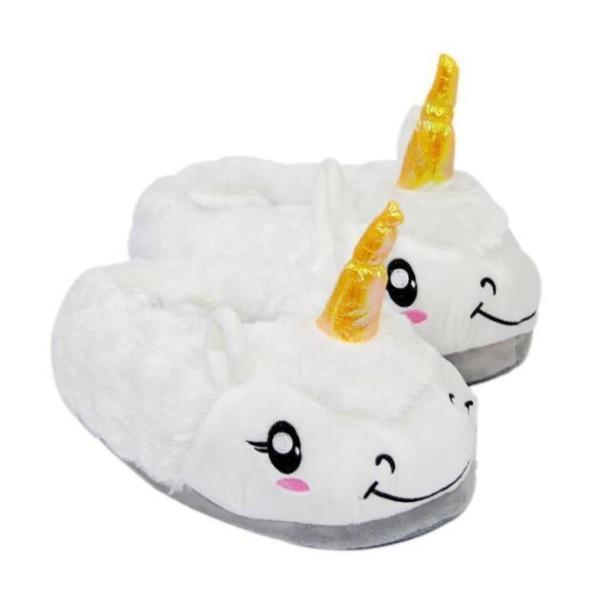 Plush Unicorn Slippers Non Slip Keep Warm Cute Animal Sheep