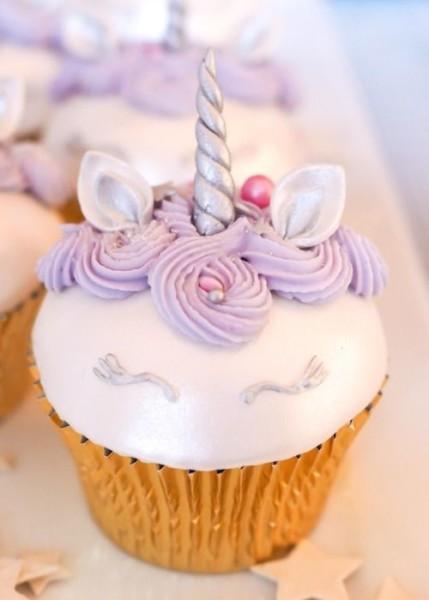 Purple Unicorn Cupcakes