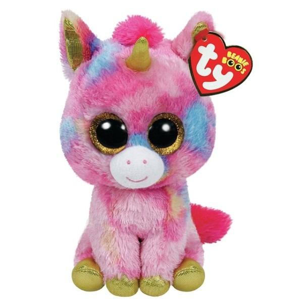Pyoopeo Ty Beanie Boos 6  15cm Fantasia The Unicorn Plush Regular