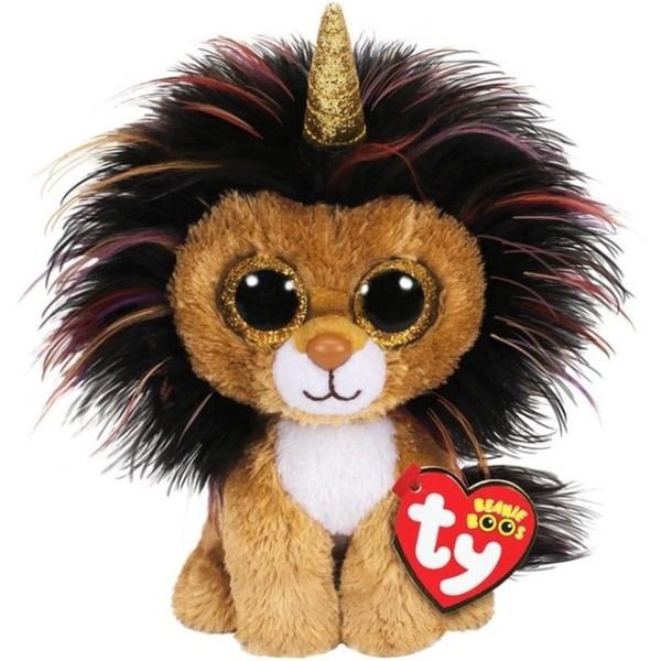 Pyoopeo Ty Beanie Boos 6  15cm Ramsey The Lion Unicorn Plush