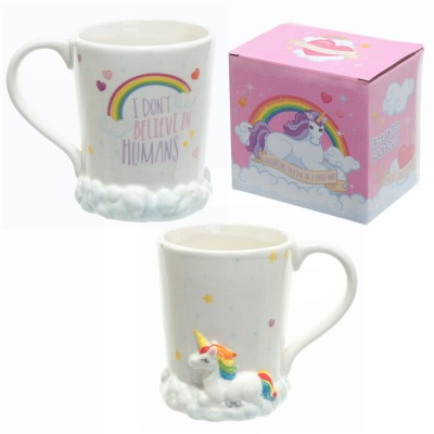 Rainbow Cup With Unicorn And Clouds From Wholesale And Import