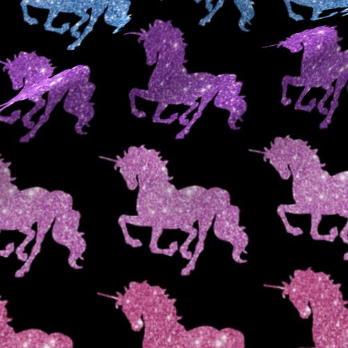 Rainbow Glitter Unicorns Wallpaper