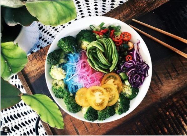 Rainbow Noodle Bowls   Unicorn Noodles