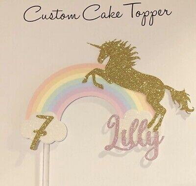 Rainbow Unicorn Cake Topper
