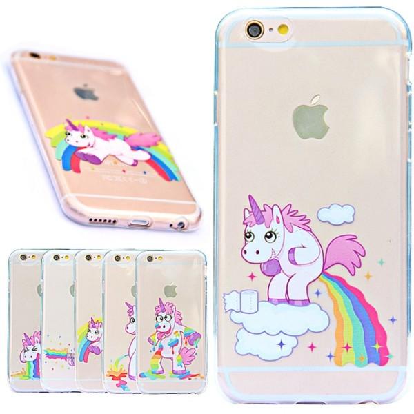 Rainbow Unicorn Case For Iphone 5 5s Se   6 Plus 6s Plus Cover