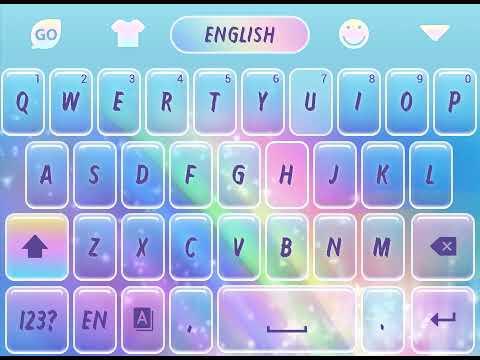 Rainbow Unicorn Go Keyboard Animated Theme – Programme Op
