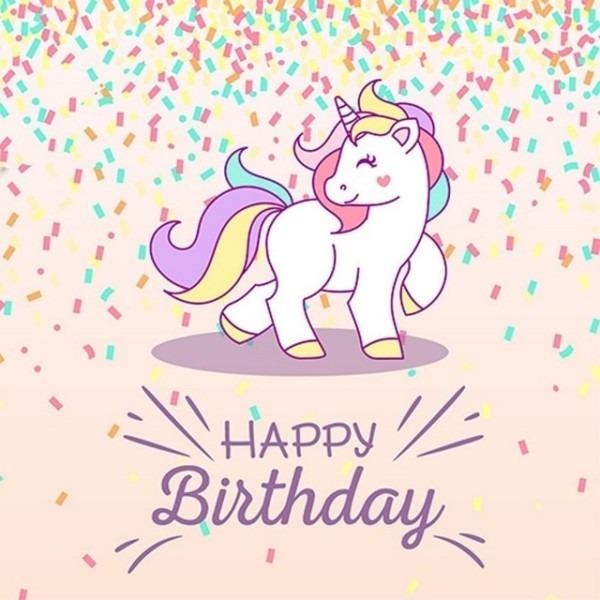 Rainbow Unicorn Happy Party Photo Studio Background Vinyl Cloth