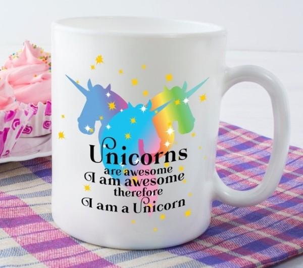 Rainbow Unicorn Mug, Girlfriend Gift, Wife Gift Coffee Mugs