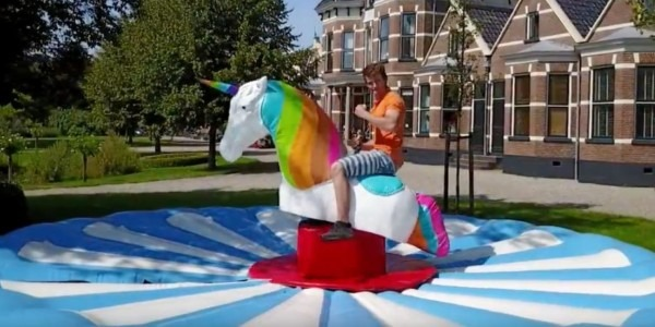 Rent A Bucking, Spinning Mechanical Unicorn For Your Event