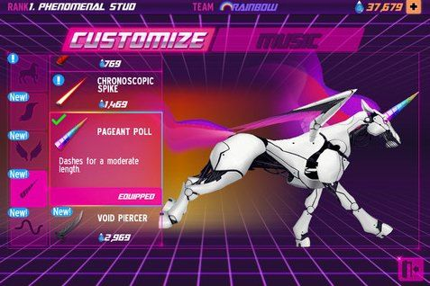 Robot Unicorn Attack 2, A Fantastical Game (video)
