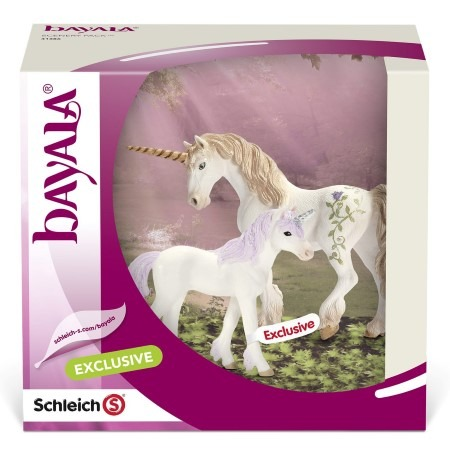 Schleich Unicorn Family Scenery Pack Gift Sets Elves Toy Figurine