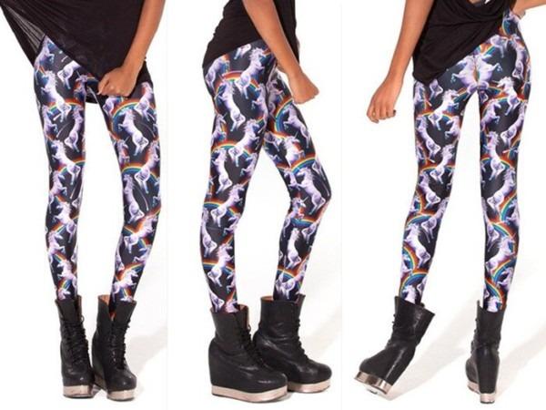 Sexy Women 2013 Fashion Attack Of The Unicorn Leggings Galaxy
