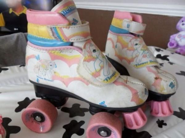 Shoes, Roller Skates, Unicorn, Rainbow, My Little Pony