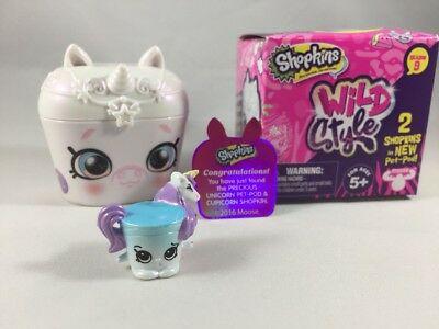 Shopkins Wild Style Precious Unicorn Pet Pod & Cupicorn Chase