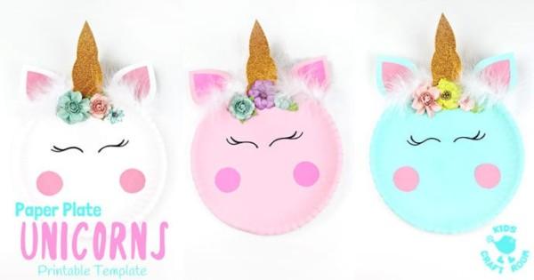 Simple Paper Plate Unicorn Craft