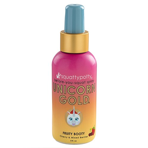 Squatty Potty Unicorn Gold Toilet Spray, Fruity Booty, 4 Ounce