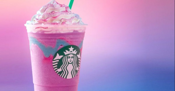 Starbucks Unicorn Frappuccino Review  Basically Sour Birthday Cake