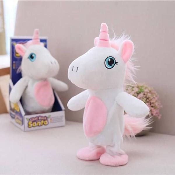 Talking Walking Stuffed Plush Unicorn Toy