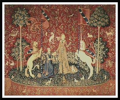 Taste (lady And The Unicorn)  By Artecy Cross Stitch