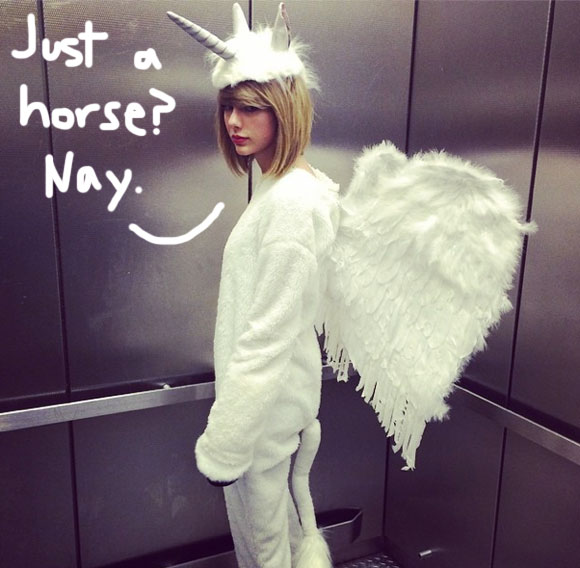 Taylor Swift Shares Her Epic Equine Halloween Costume With The