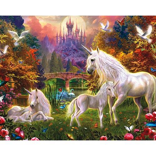 The Castle Unicorns Jigsaw Puzzle