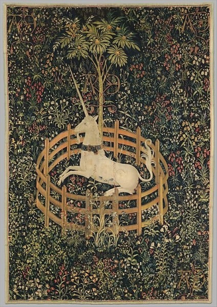 The Unicorn In Captivity (from The Unicorn Tapestries), 1495–1505