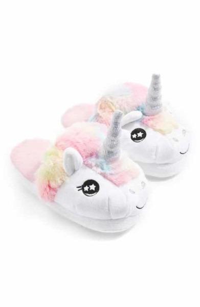Topshop Mya Unicorn Slippers