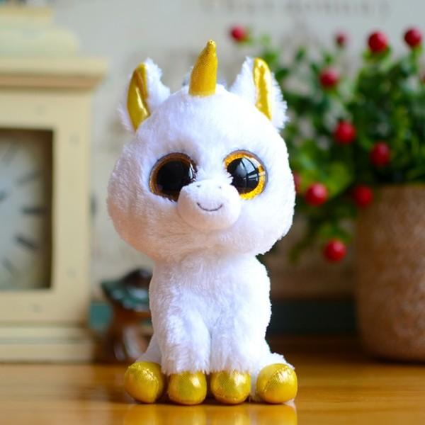 Ty Beanie Boos Kids Plush Toys Big Eyes White Unicorn Lovely