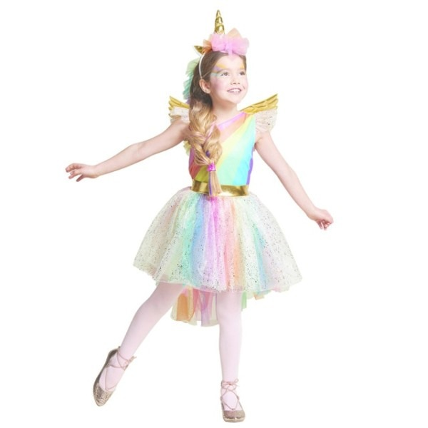 Umorden Movie Unique Deluxe Kids Girls Rainbow Unicorn Costume For