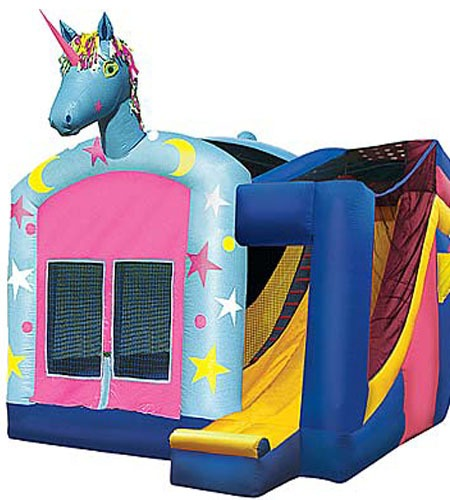 Unicorn 4 In 1 Combo Bounce House Rentals