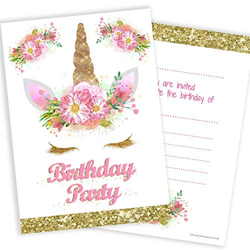 Unicorn Birthday Invitations  Amazon Co Uk