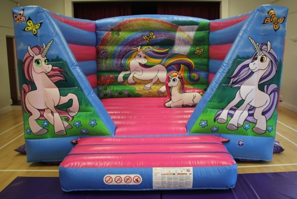 Unicorn Bouncy Castle To Hire – Bbc Inflatables 01905 841902