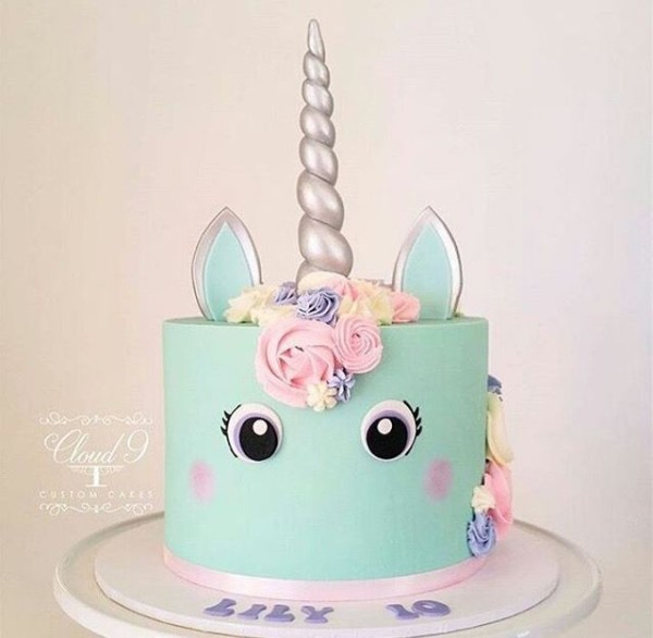 Unicorn Cake Pastel Colors