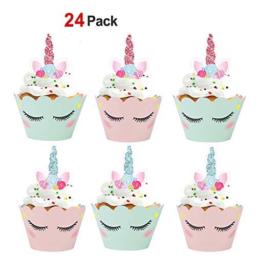 Unicorn Cupcake Decorations  Amazon Co Uk