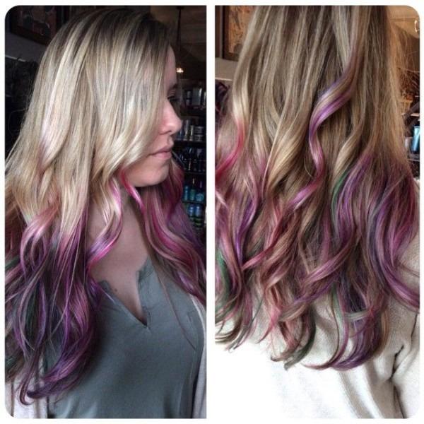 Unicorn Dip Dye By Andrea   Fawnandfoxsalon