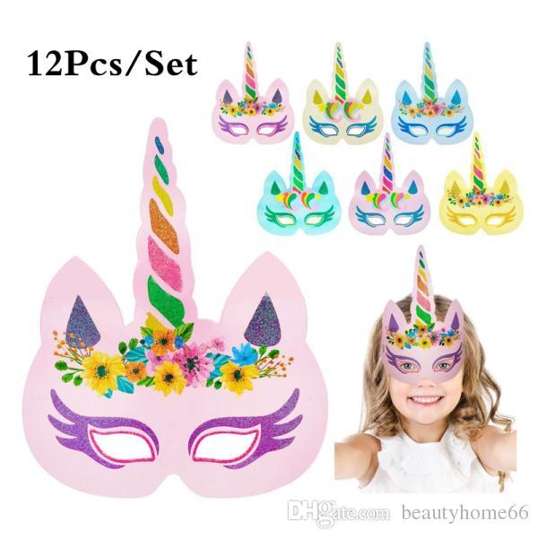 Unicorn Face Mask Baby Party Masks Unicorn Theme Face Masks