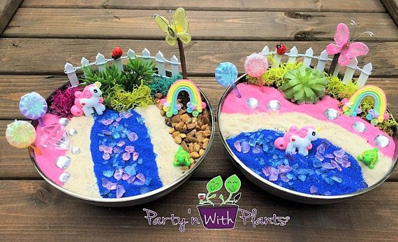 Unicorn Fairy Garden, Unicorn Habitat, Fairy Garden Kit, Unicorn