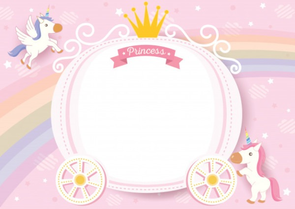 Unicorn Frame Vector