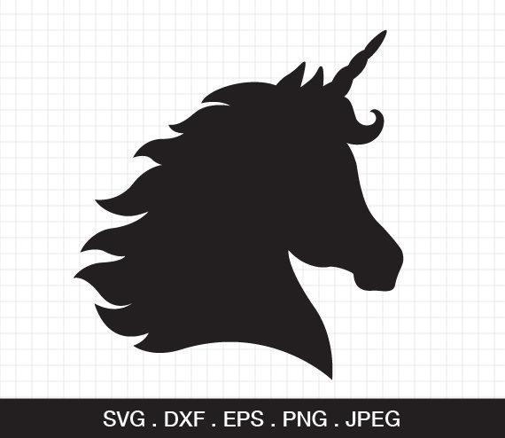 Unicorn Head Svg Unicorn Horn Svg Unicorn Svg Unicorn