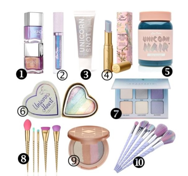 Unicorn Inspired Makeup Products