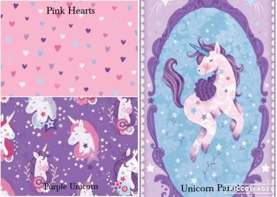 Unicorn Kisses Panel Or Coordinating Prints In Half Yard Cuts