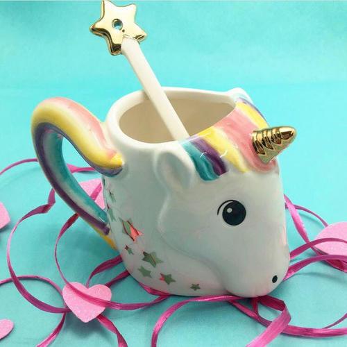 Unicorn Mug W  Star Stirrer